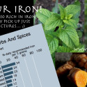 Herbs and spices so rich in iron your energy may pick up just looking at the picture… ;)